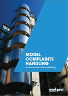 Insurance Complaints Handling Model - A Briefing