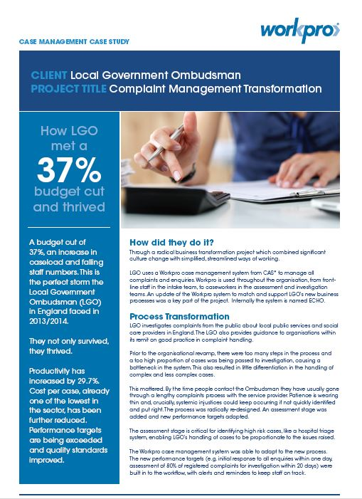 Local Government Ombudsman Case Study