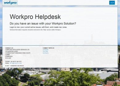 New Workpro 24/7 technical support portal